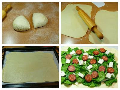 Empanada de espinacas queso y chorizo