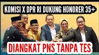 RESMI! DPR-RI Dukung Penuh Honorer 35 Tahun Keatas Jadi PNS Tanpa TES, Alhamdulillah