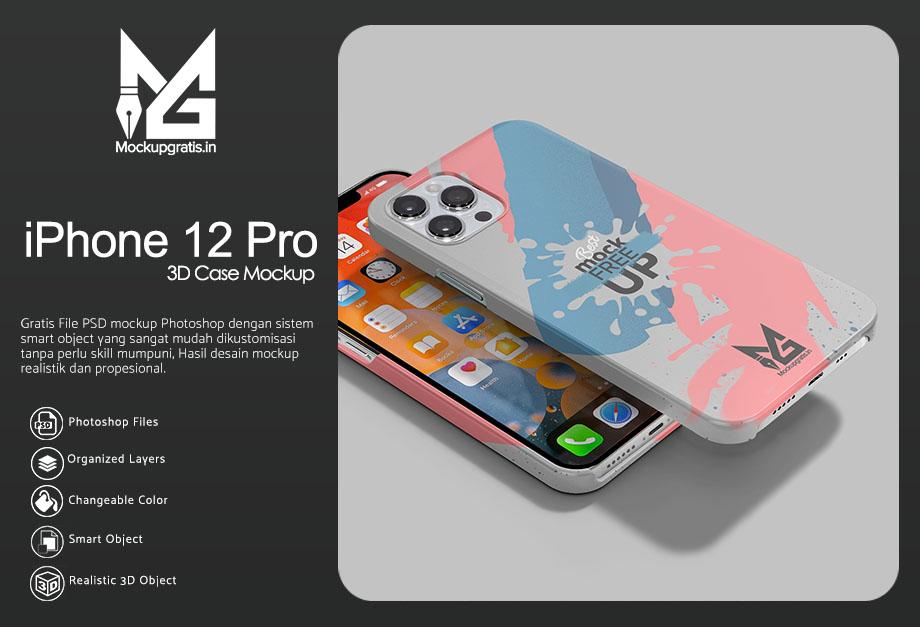 Mockup Custom Case 3D iPhone 12 Pro