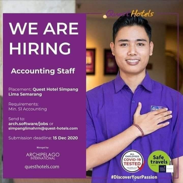 Quest Hotel Semarang Membuka Loker Accounting Staff
