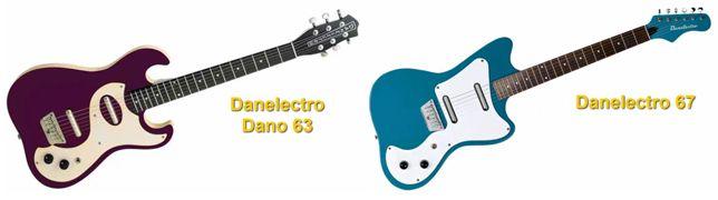 Tipos de Guitarras Danelectro Dano 63 y 67