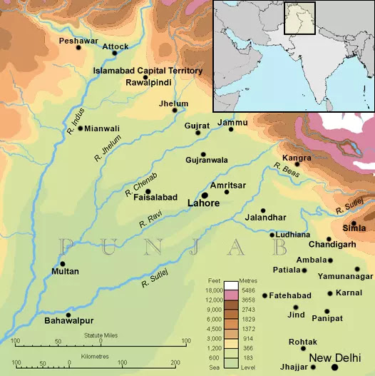 Rivers of Punjab - land of five rivers in world