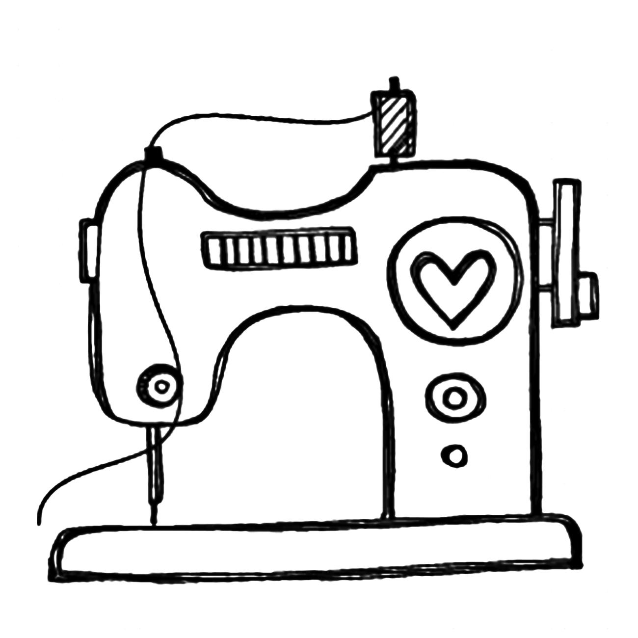 Riscos Graciosos Cute Drawings Maquinas De Costura Sewing