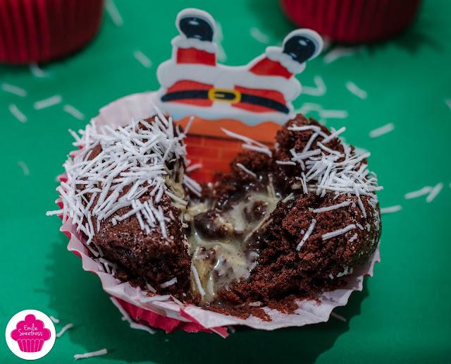 Muffins au chocolat fourrés à la crème chocolat blanc-vanille - Foodista #14