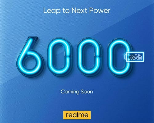 Realme is preparing to start the phone with a 6000 mAh battery
