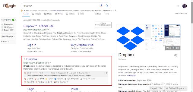Cara Membuat Akun Dropbox Dengan Mudah - Cintanetworking.com