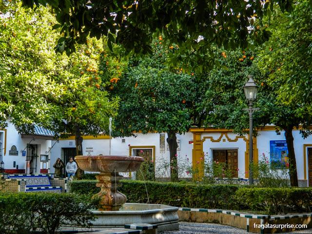 Praça de Doña Elvira, em Santa Cruz, antigo bairro judeu de Sevilha