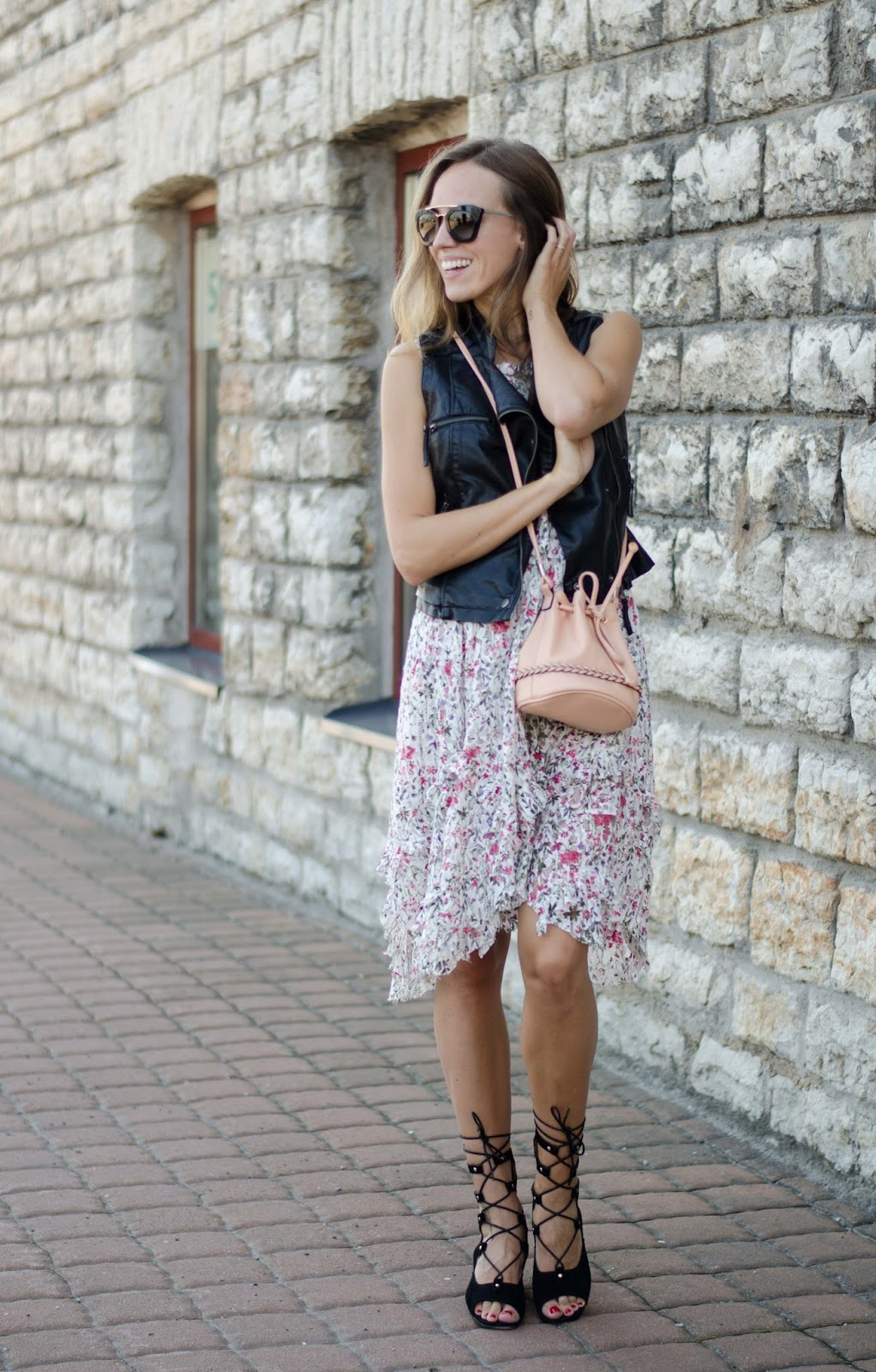 kristjaana mere floral summer midi dress outfit