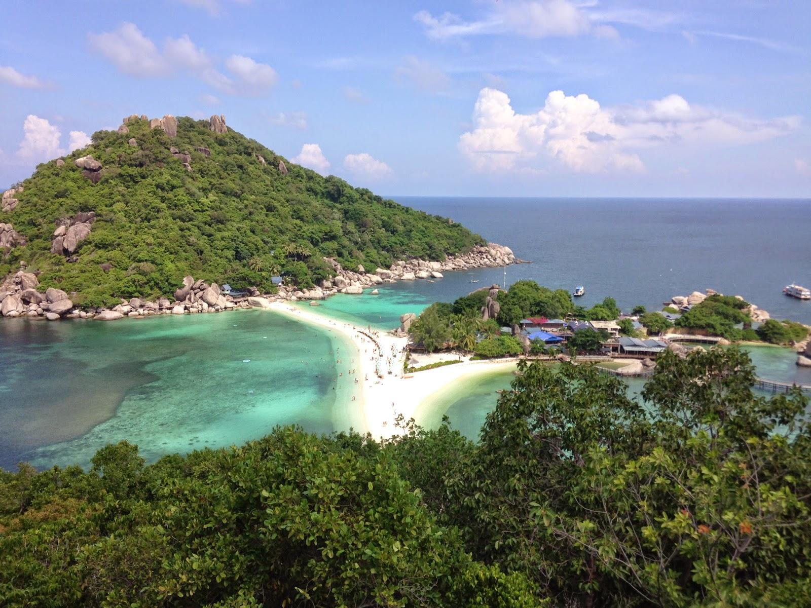 Ilha de Nang Yuan na Tailandia