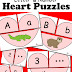 Letter and Number Heart Puzzles