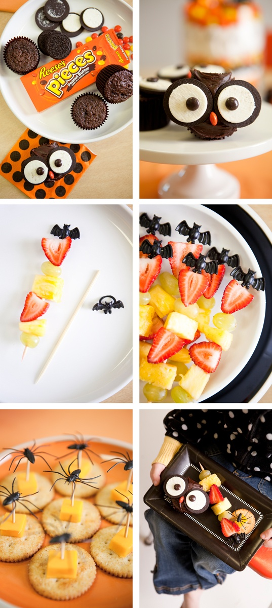 18 simple and creative Halloween food ideas for party and fun. Owl cupcakes and spider appetizers for treats. Easy Halloween treats ideas for kids. Spooky spider Halloween cookies and dessert recipes for adults. Best Halloween DIY food ideas. Halloween cupcakes ideas.
