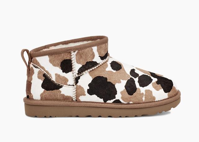 UGG classic ultra mini boot cow print