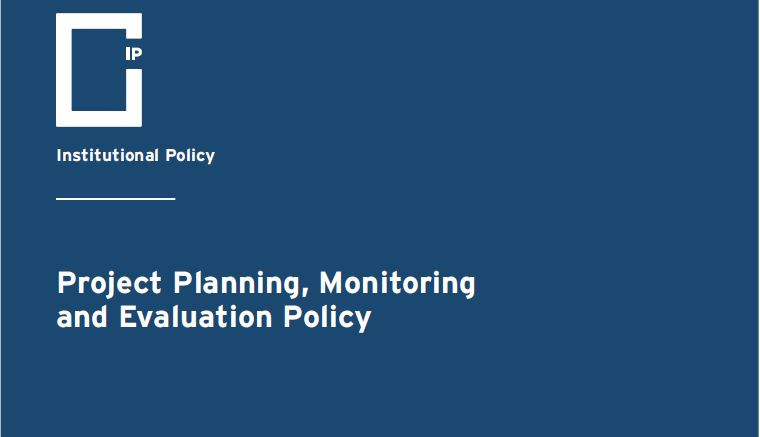 Project Planning, Monitoring and Evaluation Policy