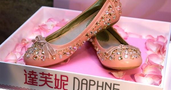 Diamond Studded Flat Heel Shoes As Worn By Teresa May