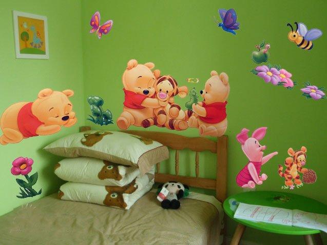 Pegatinas infantiles pegatinas baby pooh - Habitacion winnie the pooh ...