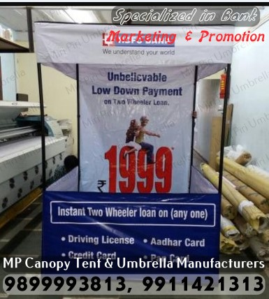 Bank Marketing Promotional Tents, Bank Marketing Tents Manufacturers, Rain Canopy Tent for Bank Promotion, Promotional Monsoon Canopy Tent for Bank Promotion, Promotional Printed Canopy Tent for Bank Promotion, Printed Monsoon Canopy Tent for Bank Promotion,