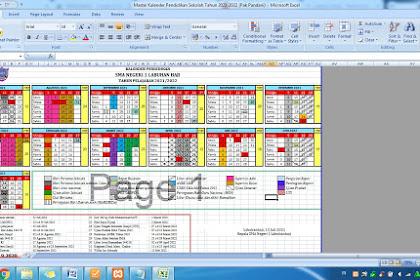 Master File Excel Kalender Pendidikan Aceh Tahun 2021/2022