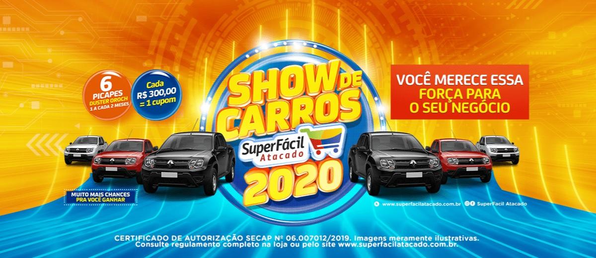 Promoção Show de Carros SuperFácil Atacado 2021 Sorteio Picapes