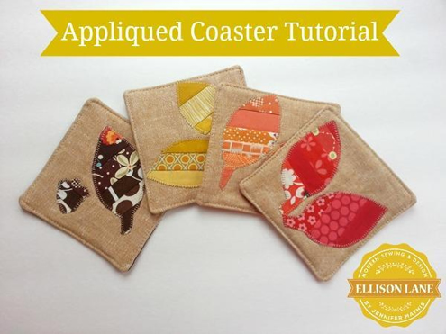 Free sewing pattern, coasters. Photo by Ellison Lane | Happy in Red