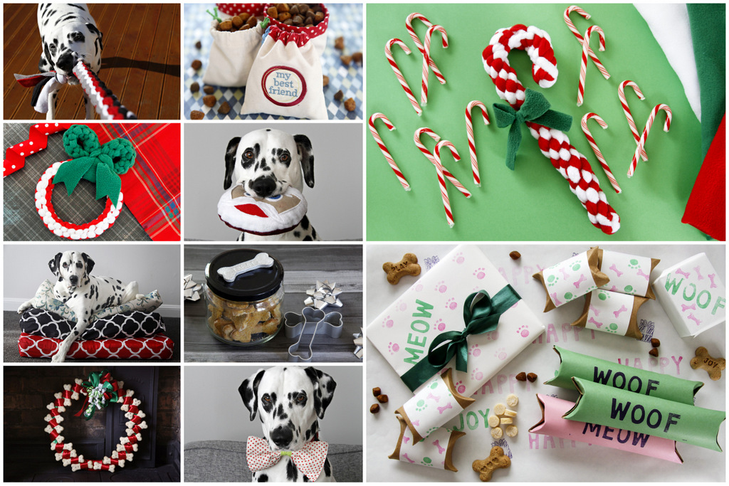 from upper left simple diy woven fleece tug toy drawstring treat bags christmas wreath tug toy squeaky santa softie homemade dog bed covers