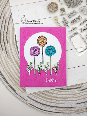 Flower Power a card by Diane Morales using the Lovely Blooms Stamp Set bt Newton's Nook Designs