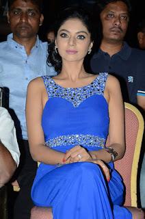Actress Sanam Shetty Stills in Blue Long Dress at Premikudu Movie Audio Launch  0016.jpg