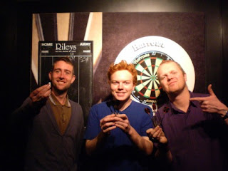 The Finalists Seth 'Zen' Thomas and Brad 'The Fist' Shepherd. With scorer Gareth 'Colleen' Holme