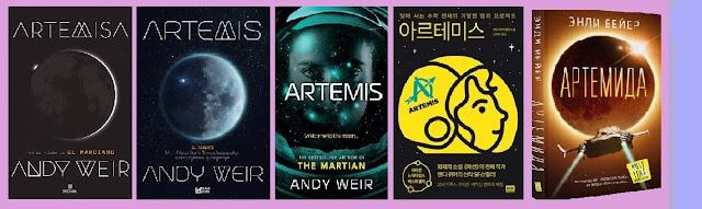 portadas del libro de ciencia ficción Artemisa, de Andy Weir