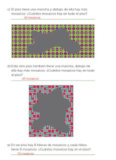 Apoyo Primaria Desafíos Matemáticos 2do Grado Bloque IV Lección 45 Mosaicos