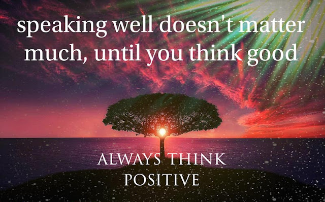 Positive thoughts of life