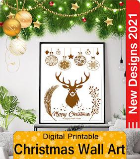 New Christmas Wall Art Canvas