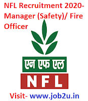 NFL Recruitment 2020, Manager (Safety), Fire Officer