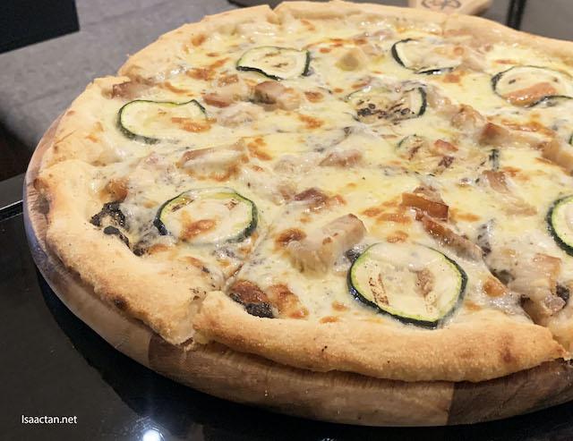 Pizza Berkshire and Crema di Tartufo