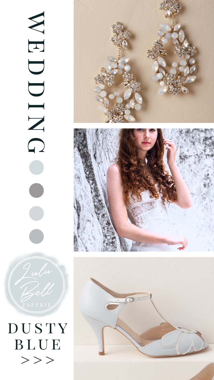 Dusty Blue and Gray Wedding Color Palette Inspiration - Color Combinations