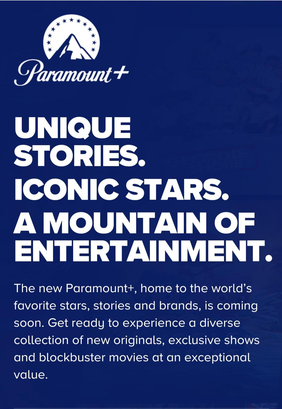 paramount+ paramount VOD streaming cbs