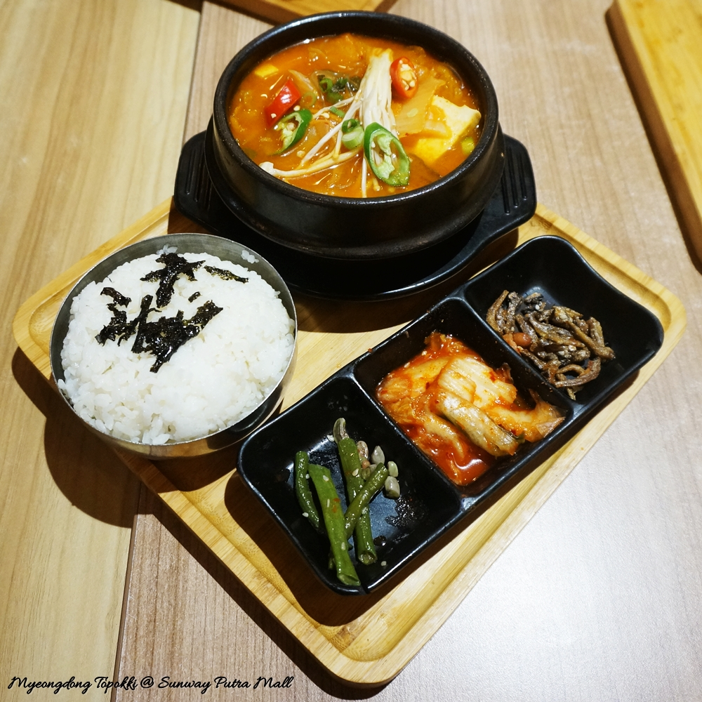 Myeongdong Topokki, Rawlins Eats, Korean Food di Sunway Putra Mall, Food court, Korean food, K-Food,