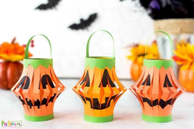 pumpkin paper lantern
