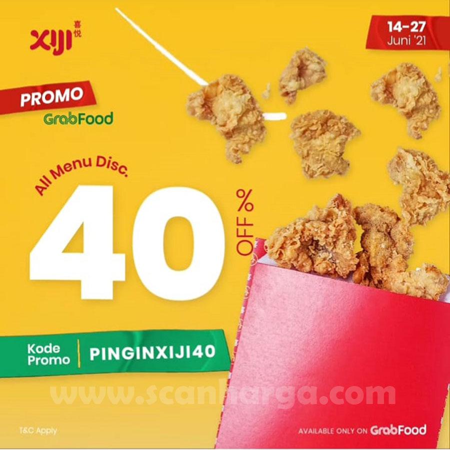 Promo Xiji Street Snack Grabfood Diskon 40% All Menu