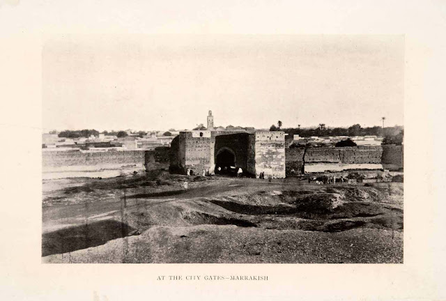 1904. Marrakech, City Gate - Marocco - Halftone Print