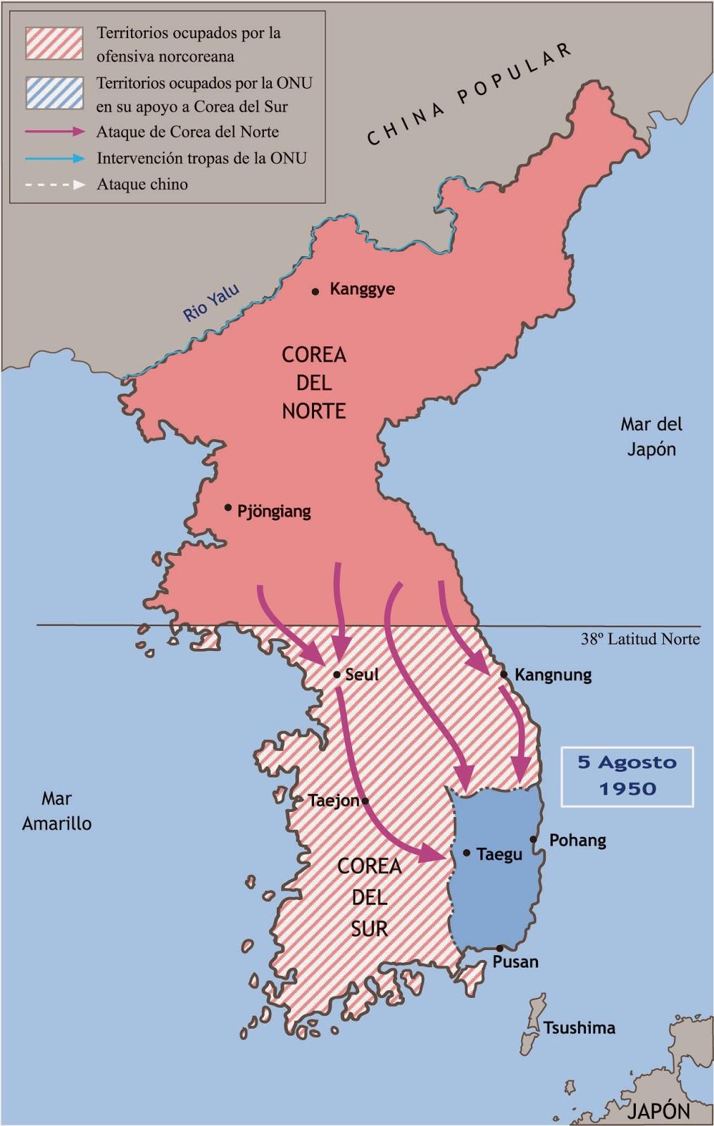 Guerra De Corea Mapa.Efectos De La Guerra Fria En La Guerra De Corea