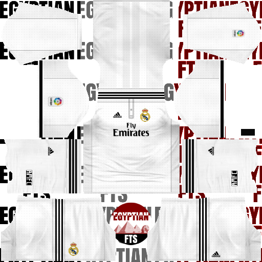 Real Madrid 2018/19 Kit & Logo | Dream League Soccer