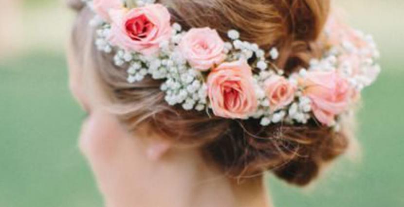 Coronas de flores para novias el blog de malules for Como hacer adornos con plantas naturales