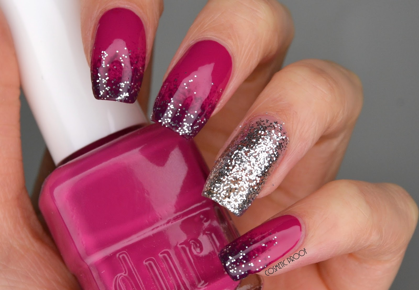 Nails Purple Gradient Glitter With Duri Cosmetics Manimonday