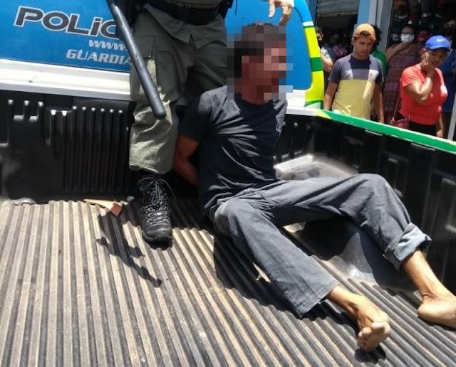 PMs usam a força para conter suspeito de roubo e causa revolta em Campo Maior