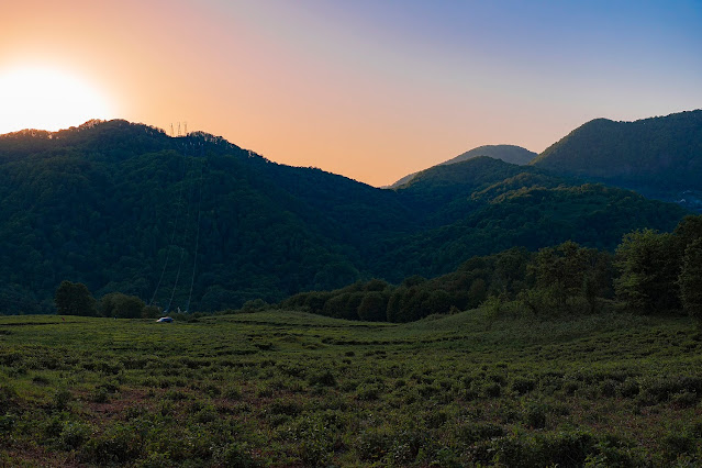 Dagomys Volkovka mountains forest sunset evening Sochi photo Igor Novik