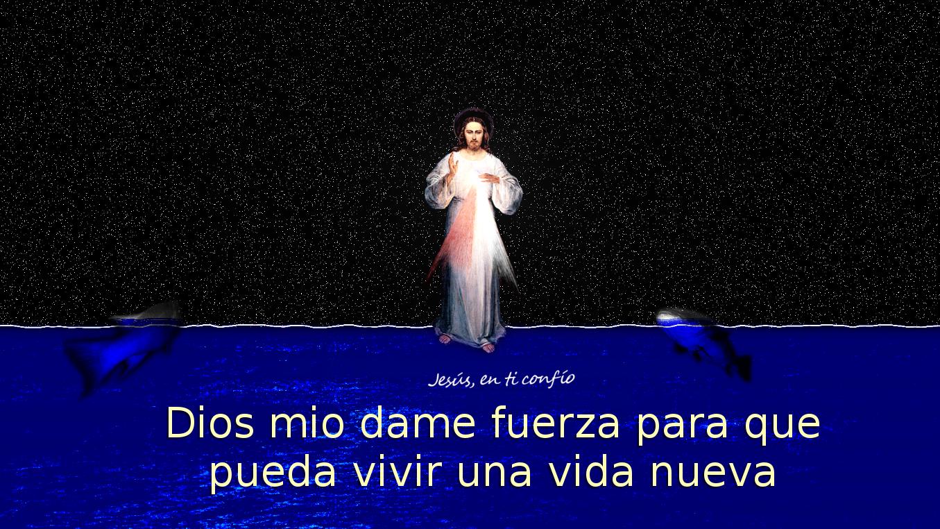 jesus con dos pescados viendolo