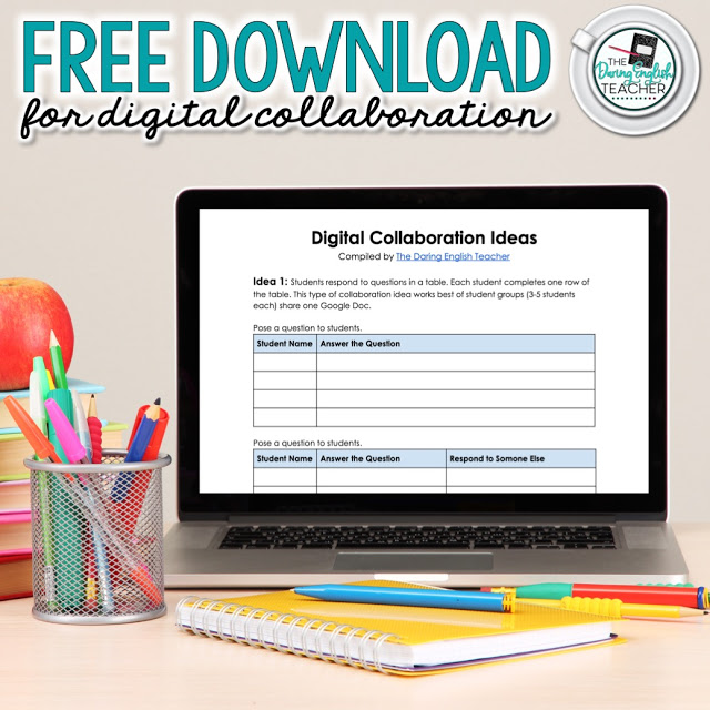 Digital collaboration ideas for the secondary ELA classroom