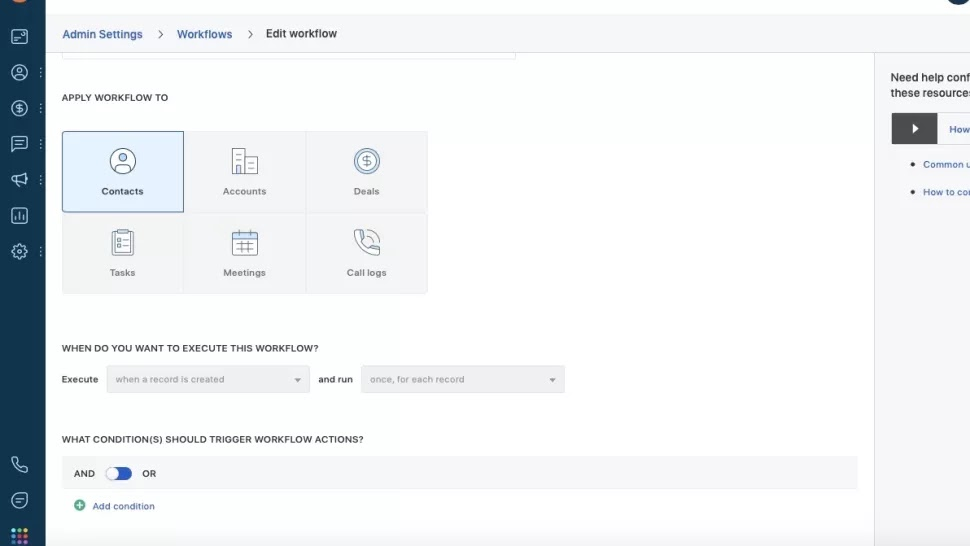 How does Freshsales' workflow automation work?
