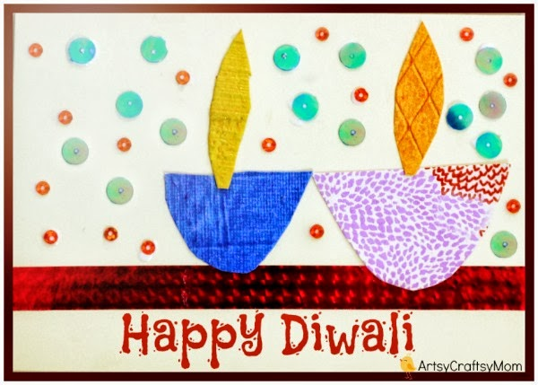 Diwali Handmade Card For Kids To Make Artsy Craftsy Mom