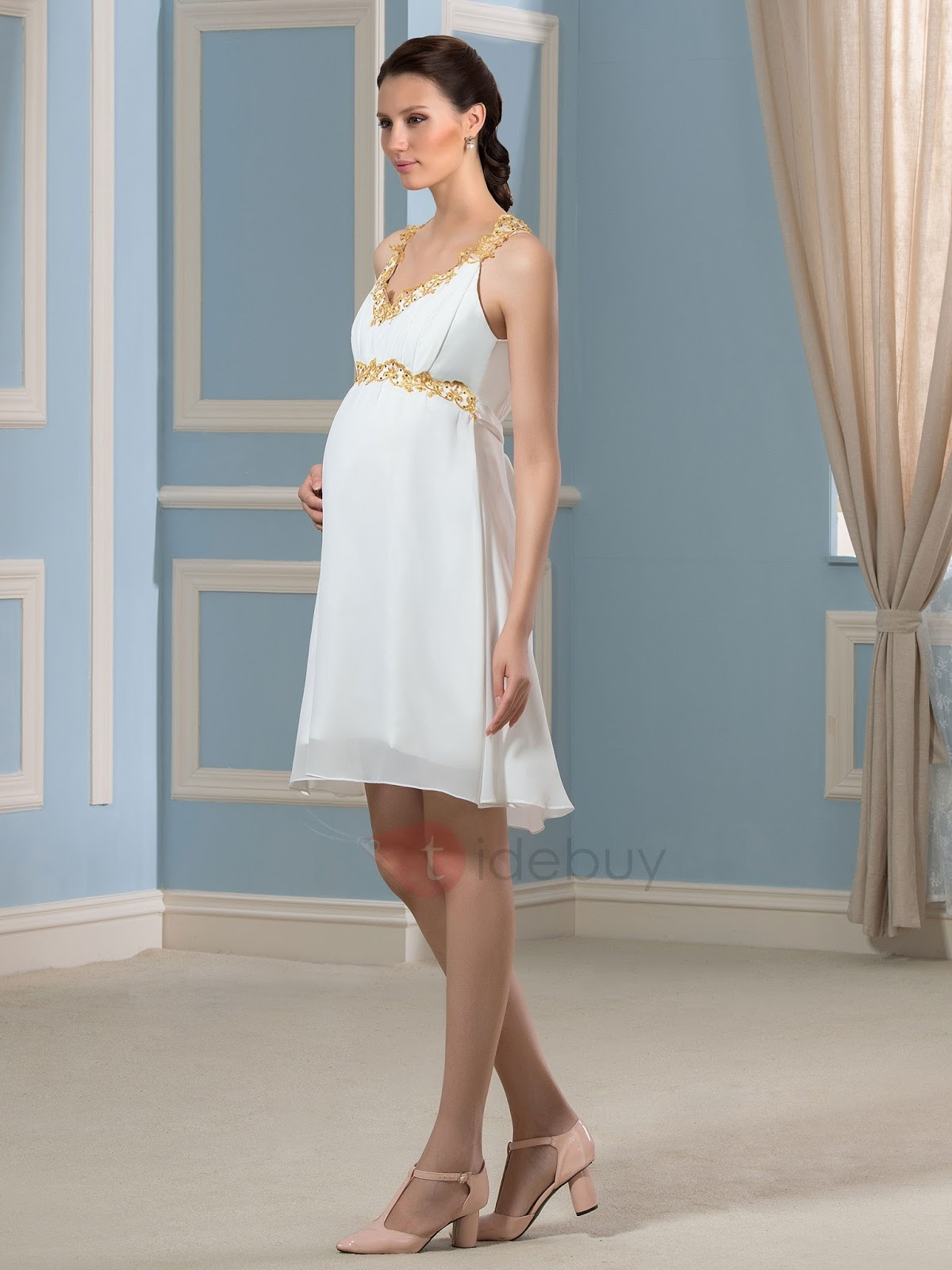 Vestidos de novia para civil para embarazadas